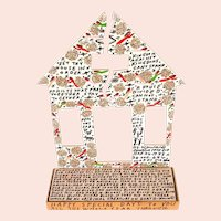 "Howard Finster, ""Broken House,"" Folk Art"