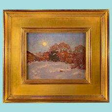 "David Ballew, ""Adobe Moon"" Oil Painting"