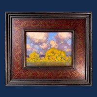 "David Ballew, ""Autumn Clouds"" Oil Painting"