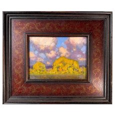 """David Ballew, """"Autumn Clouds"""" Oil Painting"""