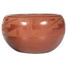 Juanita Gonzales, Large Redware Bowl, San Ildefonso Pueblo