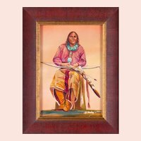 "Nancy Cawdrey, ""White Bear"" War Chief Portrait"