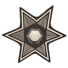 Charmae Shields Natseway, Star Seed Pot with Lid, Acoma Pueblo