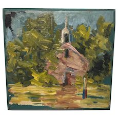 Evelyn Marie Allen Faherty, Old Schoolhouse Oil Painting