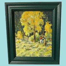 """Christopher Willett, """"Silent Passage Blackfeet"""" Oil Painting"""