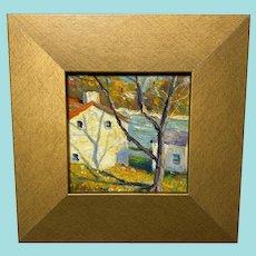 "Christopher Willett, ""Lumberville, PA"" Oil Painting"