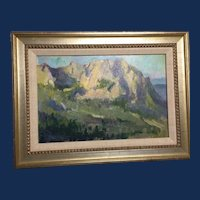 "Mimi Litschauer, ""Pinnacle Peak View"" Landscape Oil Painting"