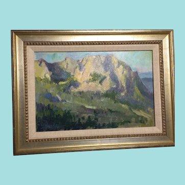 "Mimi Litschauer, ""Pinnacle Peak View"" Landscape Oil Painting"