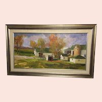 "Mimi Litschauer, ""The Williams' Place"" Oil Painting"