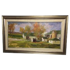 """Mimi Litschauer, """"Williams Place"""" Oil Painting"""