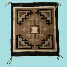 Navajo Rug; Two Gray Hills Sampler