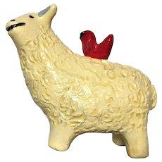Elizabeth Manygoats, Sheep with Bird, Navajo/Diné Pottery