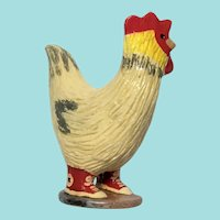 Elizabeth Manygoats, Rooster Wearing Red Sneakers, Navajo/Diné Pottery