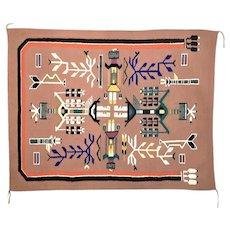 Navajo/Diné Rug, Western Reservation Sandpainting