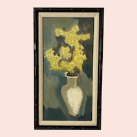 Sterling Strauser, Yellow Flowers in a Vase, Still Life Oil Painting