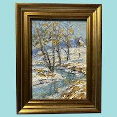 "Christopher Willett, ""No School"" Landscape Oil Painting"