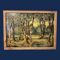Vladimir Koren, Russian Forest Folk Oil Painting
