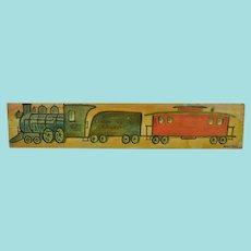 Jack Savitsky, Lehigh Valley Railroad Train on Found Board, Folk Art