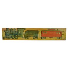 Jack Savitsky, Lehigh Valley Railroad Train on Found Board, Folk Art