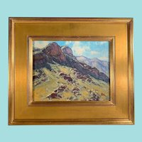 "Bill Gallen, ""Mountain Shadows"" Landscape Oil Painting"