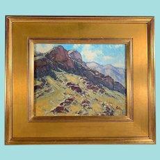 "Bill Gallen, ""Mountain Shadows"" Landscape Oil Painting"