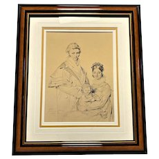 """Early 20th Century Print, """"The Lethière Family"""" by Jean Ingres"""