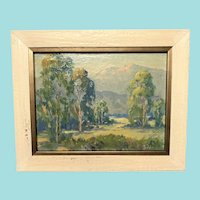 "Ella Briezes Ingle, ""California Landscape"" Oil Painting"