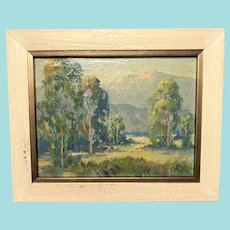 "Ella Briezes Ingle, ""California Landscape"" Oil Painting"