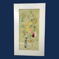 Sterling Strauser, Abstract Floral Still Life, Oil Painting