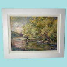 Judith Beringer Hranoitis, Lake View Landscape Oil Painting