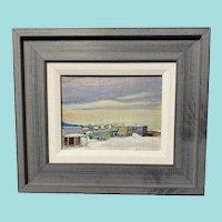 Alaskan Village, Mid-20th Century Oil Painting