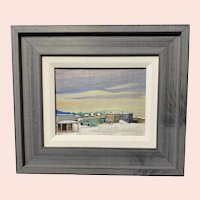 Alaskan Village, Mid-20th Century Oil Painting