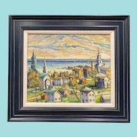 "Christopher Willett, ""Provincetown, Mass."" Oil Painting"