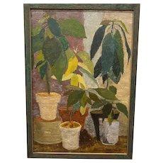 """Eva Martino, """"Avocado Still Life"""" Oil Painting"""