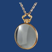 Vintage 9ct Gold Double Sided Locket and 9ct Chain