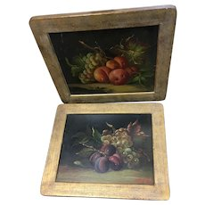 Lovely pair of still life paintings
