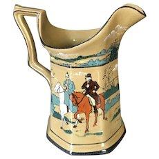 Wonderful piece of Buffalo Pottery, Deldare pitcher