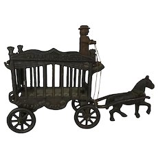 Charming Cast Iron Overland Circus Wagon