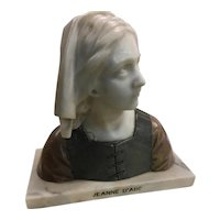 Stunning Marble Bust of Joan of Arc