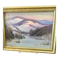 Charming Small Painting: Snow Scene
