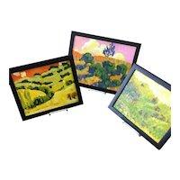 Brilliant group of three impressionist paintings