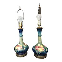 Spectacular Pair of Moorecroft Table Lamps