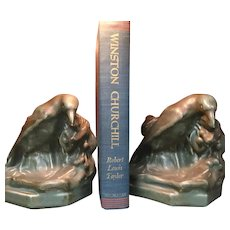 Wonderful Rookwood pottery bookends