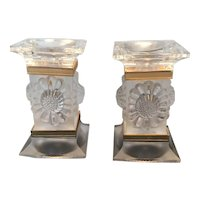 Wonderful Pair of Lalique Candle Holders