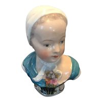 Wonderful Porcelain Bust of a Young Girl