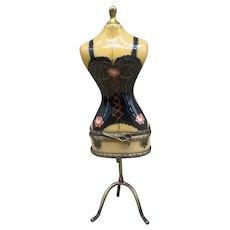 Sinclair Limoges Frances Limited Edition Porcelain Dress Mannequin Trinket Box