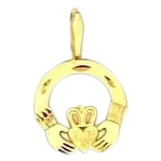 Michael Anthony 1989 14k Solid Gold Claddagh Pendant
