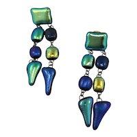 Artisan Modernist , Multi-shaped Bead Earrings