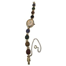 Monet Scareb Gold Plated Bracelet and Watch