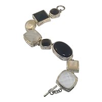 Sterling Designer Elle Bracelet with Stones